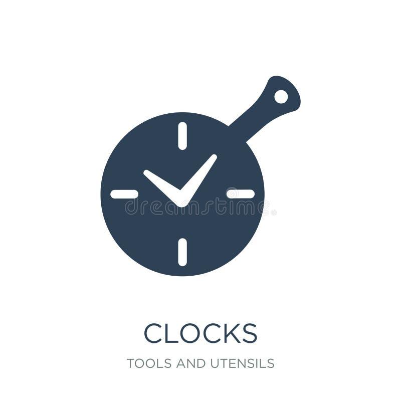 значок часов в ультрамодном стиле дизайна значок часов изолированный на белой предпосылке символ значка вектора часов простой и с иллюстрация штока