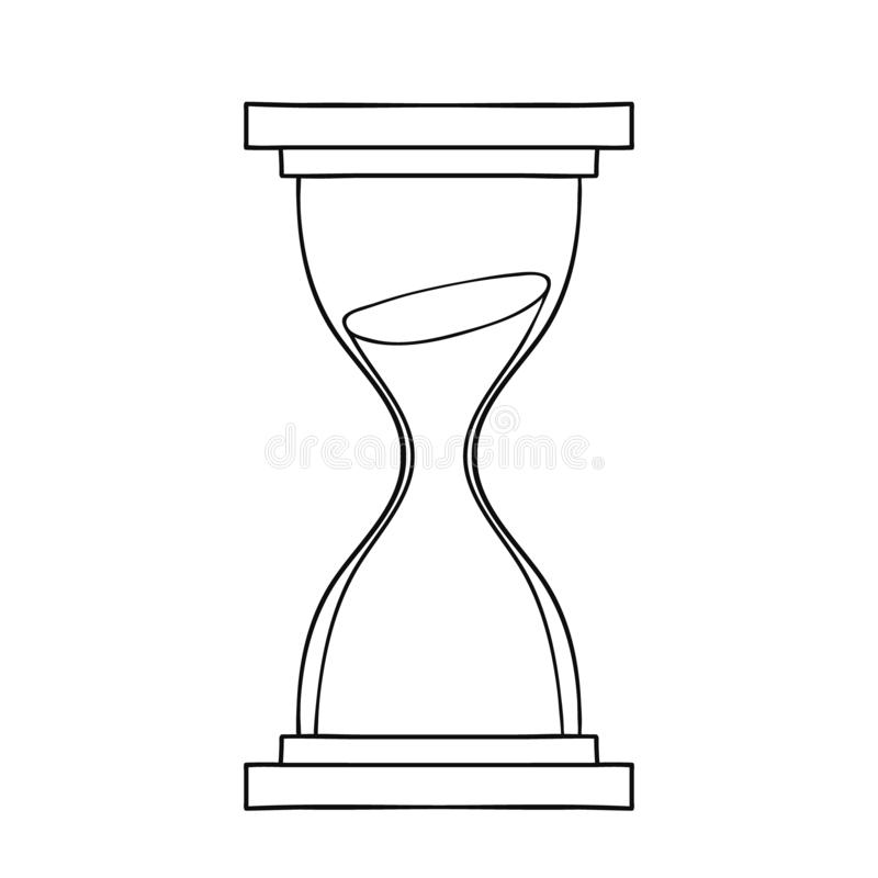 Значок часов Нарисованная рукой иллюстрация вектора шаржа doodle иллюстрация вектора
