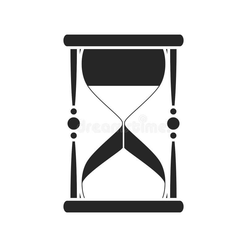 Значок часов плоский на белой предпосылке, для любого случая иллюстрация вектора