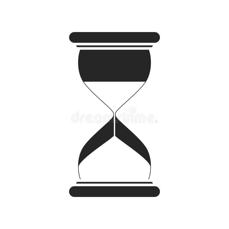 Значок часов плоский на белой предпосылке, для любого случая бесплатная иллюстрация