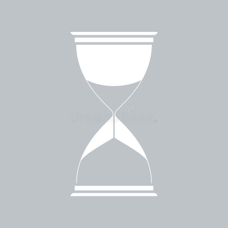 Значок часов плоский на серой предпосылке, для любого случая бесплатная иллюстрация