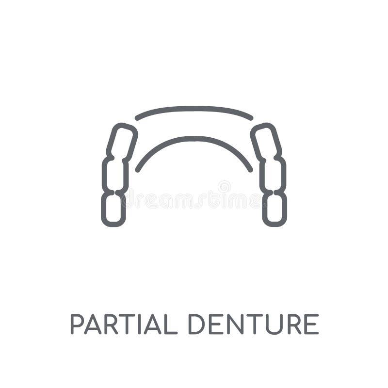 Значок частично Denture линейный Логотип Denture современного плана частично иллюстрация вектора
