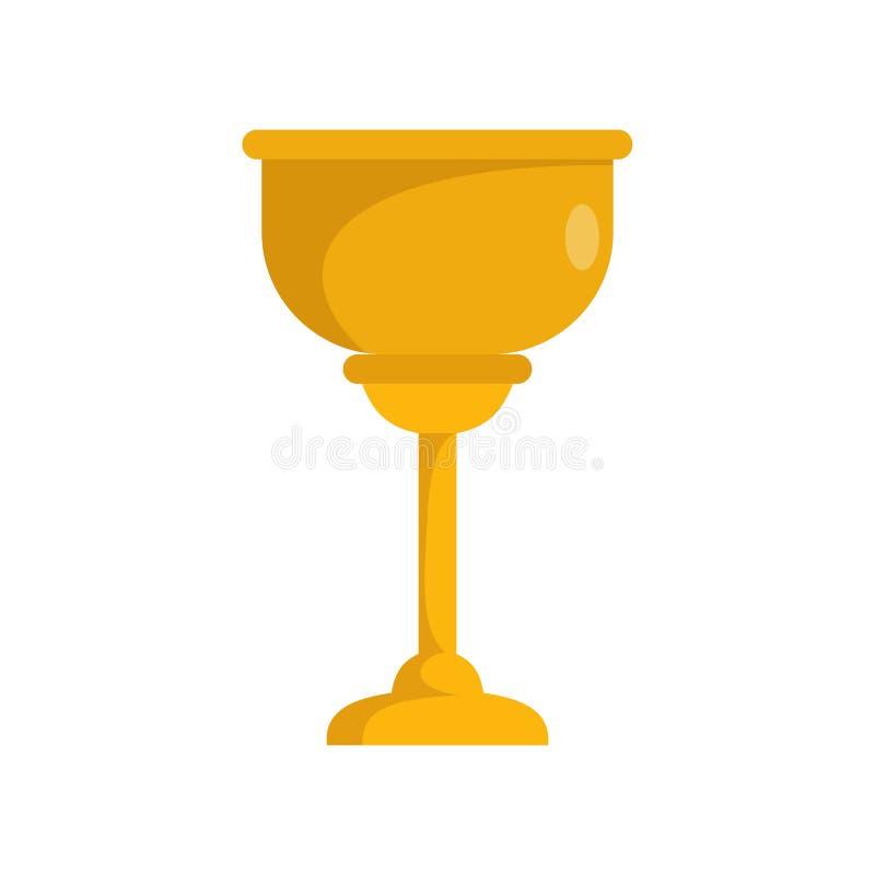 Значок чашки золота еврейский, плоский стиль иллюстрация штока