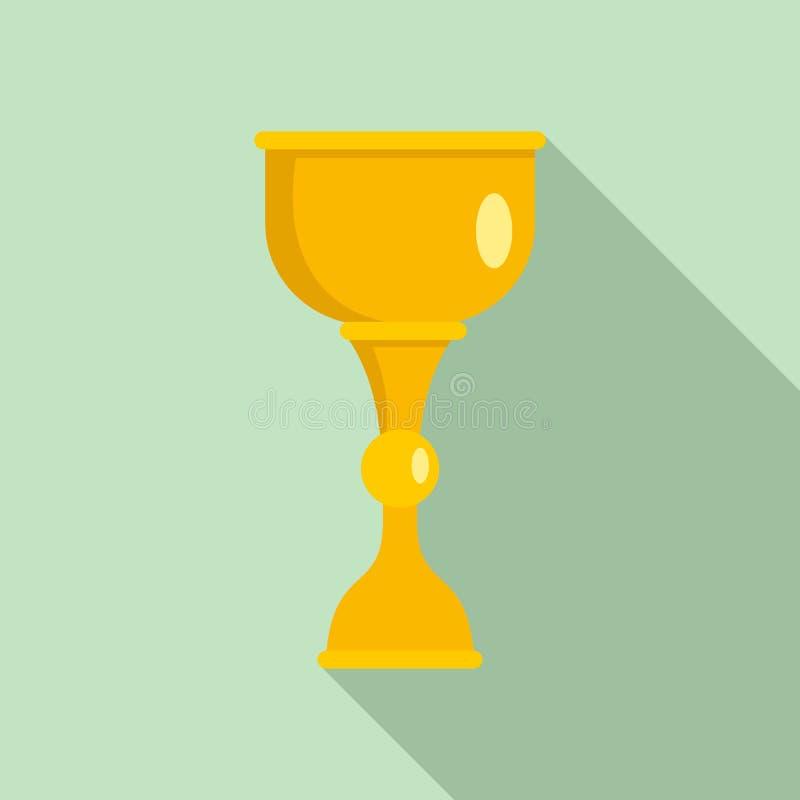Значок чашки золота еврейский, плоский стиль бесплатная иллюстрация