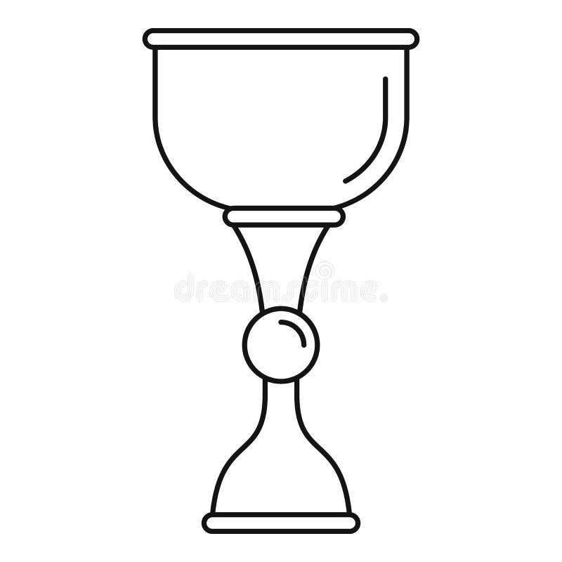 Значок чашки золота еврейский, стиль плана иллюстрация вектора