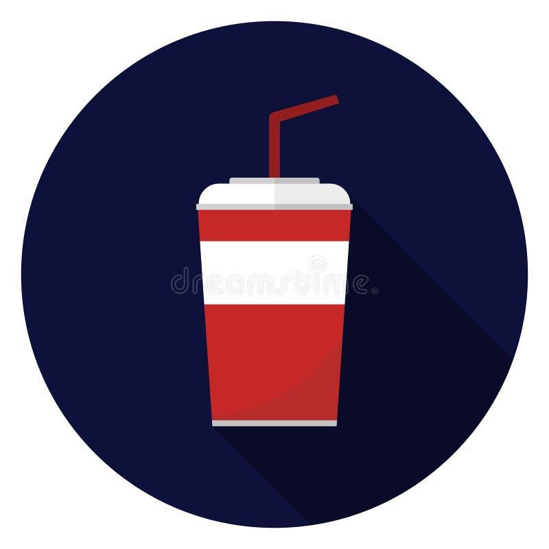 Значок чашки соды в плоском дизайне иллюстрация штока