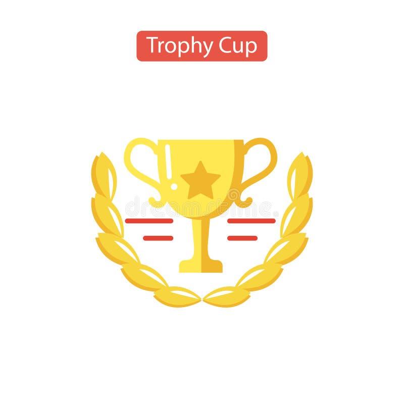 Значок чашки трофея Плоская пиктограмма иллюстрация штока