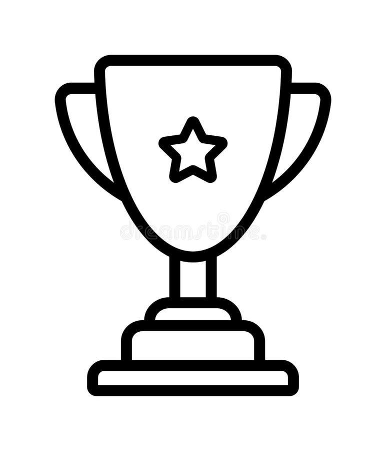 Значок чашки трофея победителя иллюстрация штока