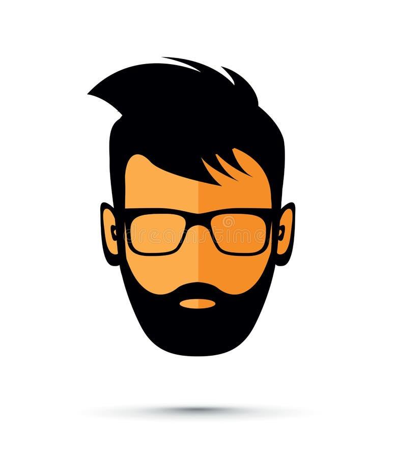 Значок человека бороды иллюстрация штока