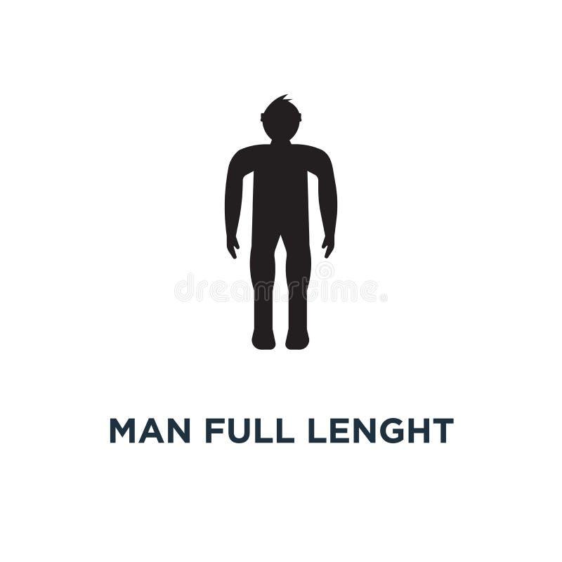 Значок человека полнометражный Простая иллюстрация элемента Leng человека полное иллюстрация вектора