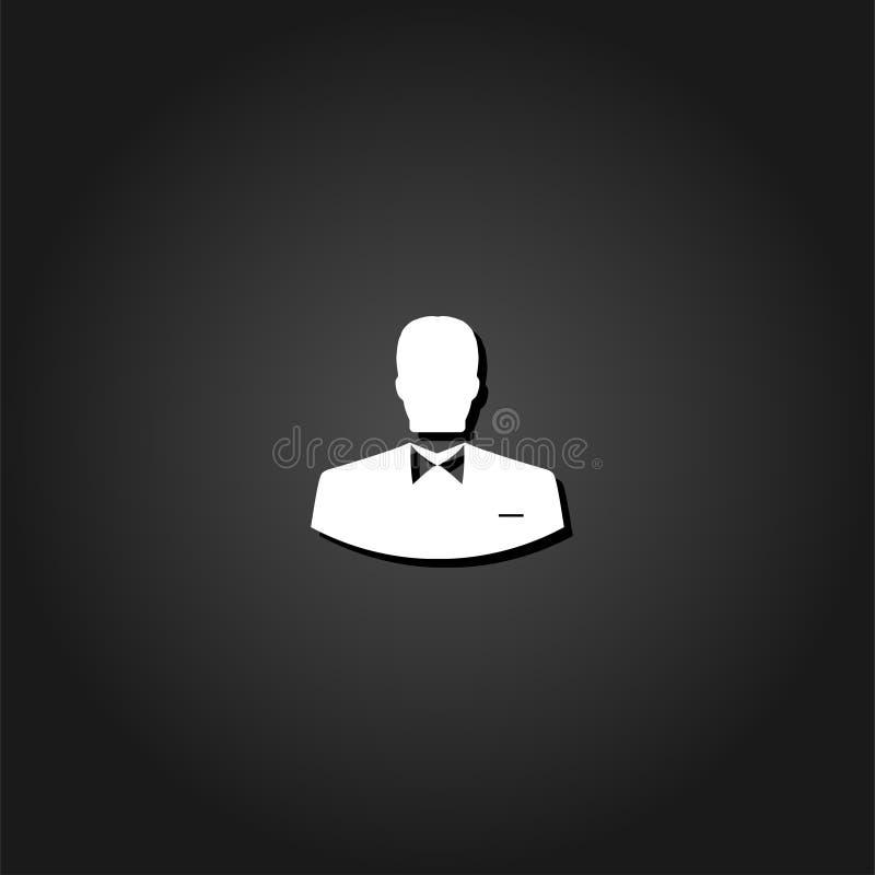 Значок человека потребителя плоско бесплатная иллюстрация