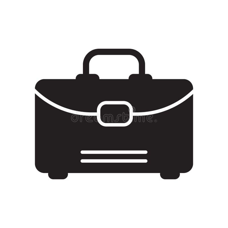 Значок чемодана изолированный на белой предпосылке иллюстрация вектора