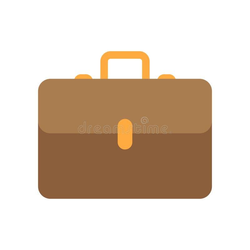 Значок чемодана изолированный на белой предпосылке иллюстрация штока