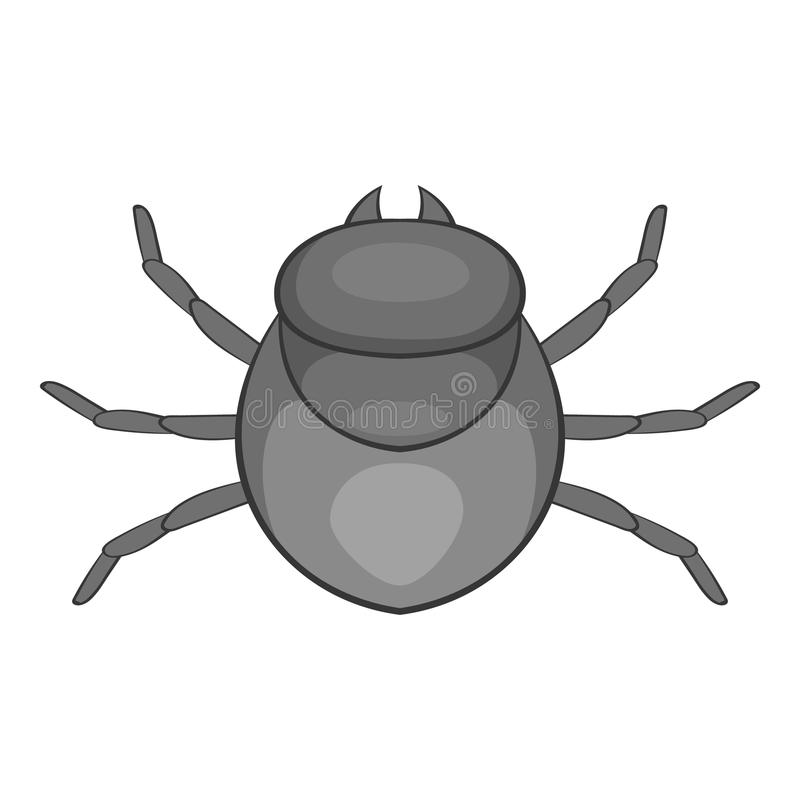 Значок черепашки сбора, стиль шаржа иллюстрация вектора