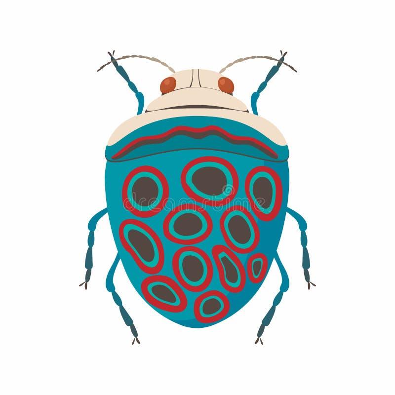 Значок черепашки, стиль шаржа иллюстрация вектора
