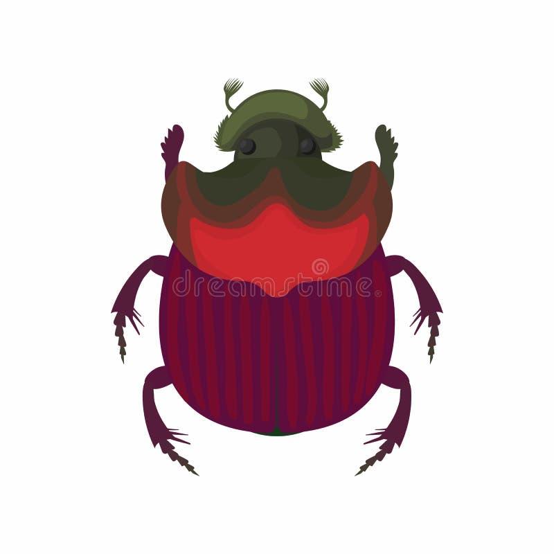 Значок черепашки, стиль шаржа иллюстрация штока
