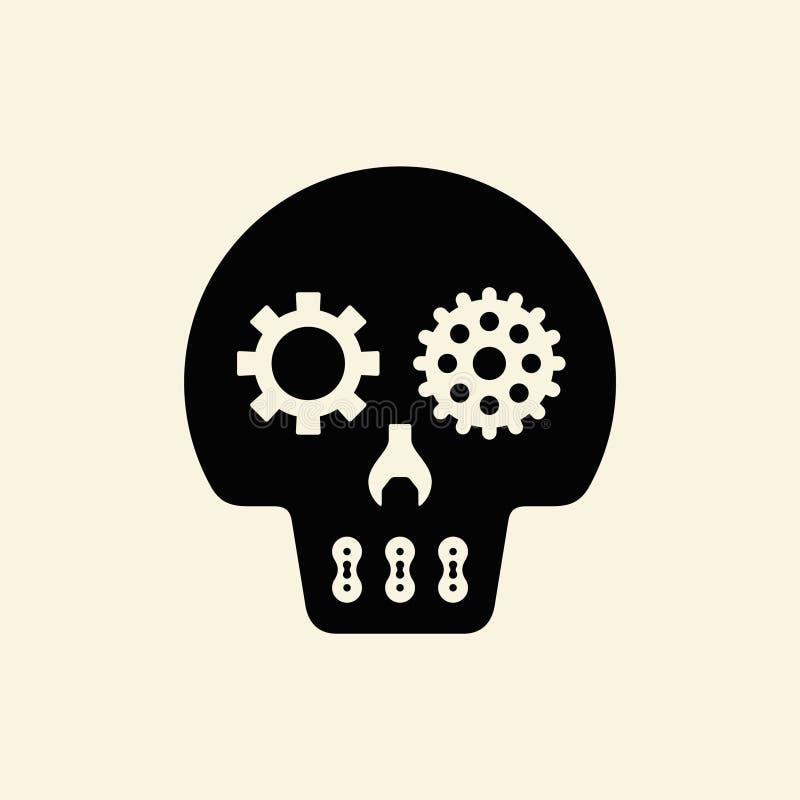 Значок черепа иллюстрация вектора