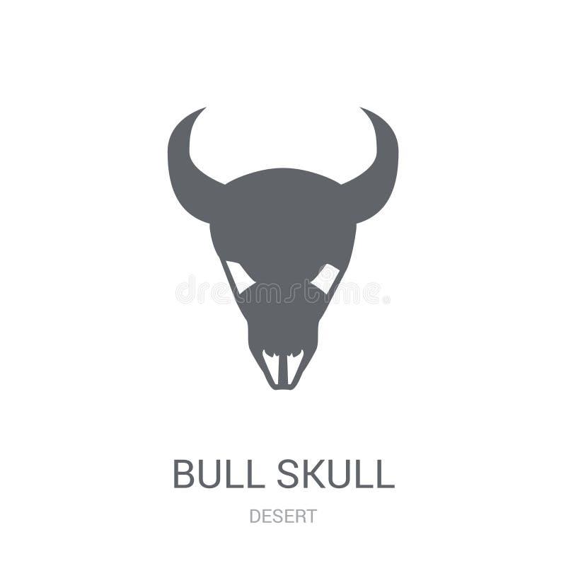 Значок черепа Bull  иллюстрация вектора