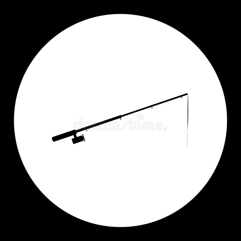 Значок черноты силуэта рыболовной удочки простой бесплатная иллюстрация