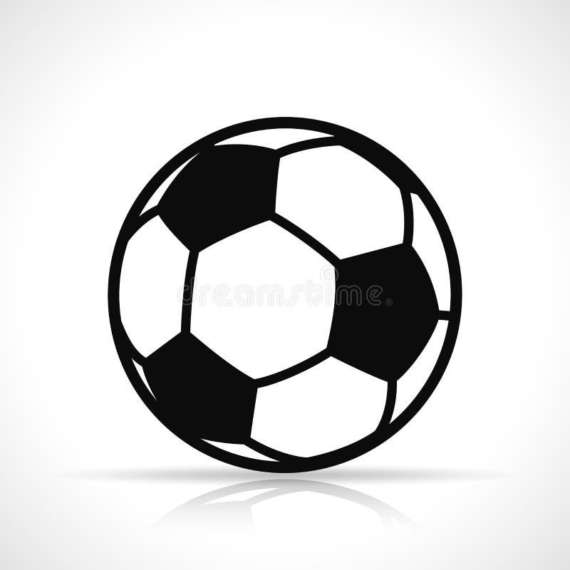 Значок черноты футбольного мяча вектора бесплатная иллюстрация