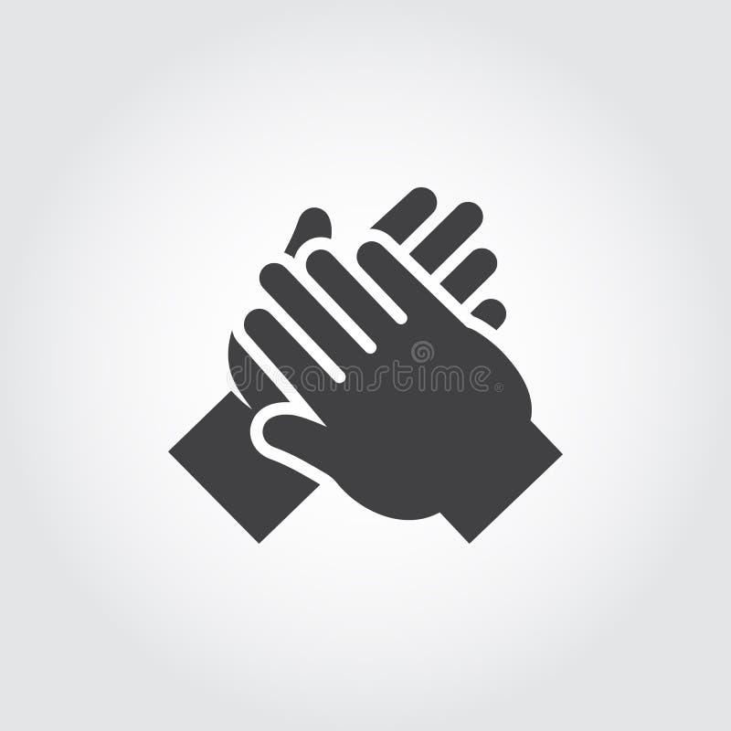 Значок человека вручает рукоплескание бесплатная иллюстрация