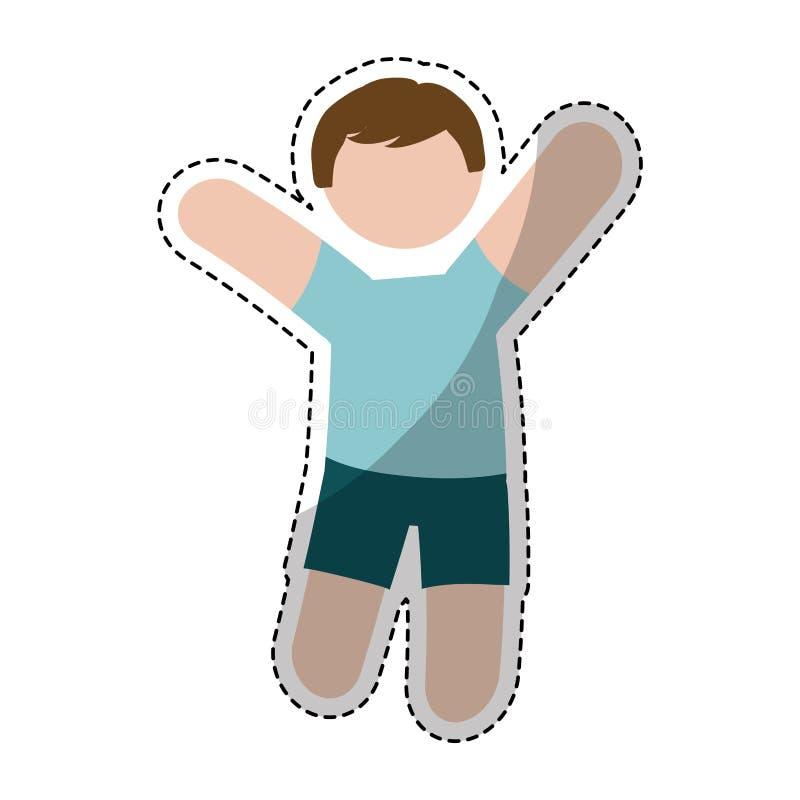 Download Значок человека шаржа иллюстрация вектора. иллюстрации насчитывающей экзекьютив - 81801773