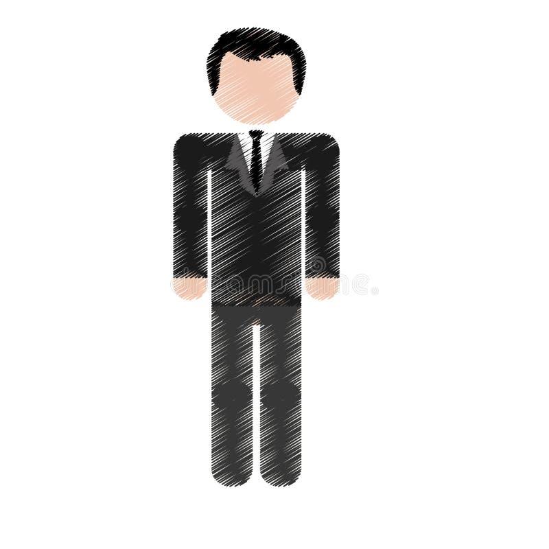 Download Значок человека шаржа иллюстрация вектора. иллюстрации насчитывающей успех - 81802030