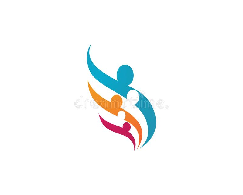 значок шаблона логотипа оказаних помощей стоковое фото rf