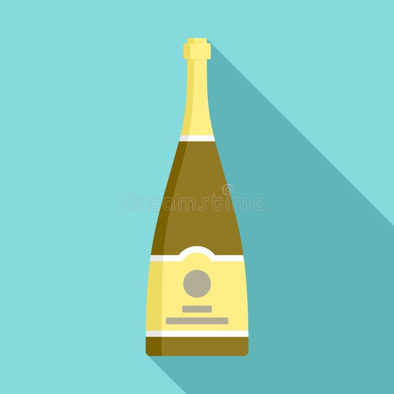 Значок шампанского Брауна, плоский стиль бесплатная иллюстрация