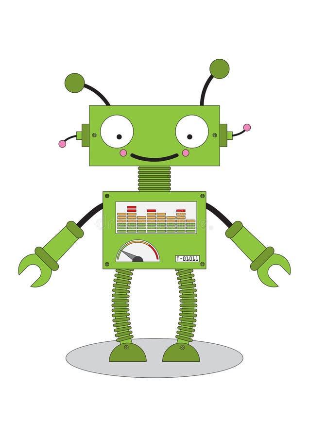 Значок шаржа робота игрушки андроида иллюстрация вектора