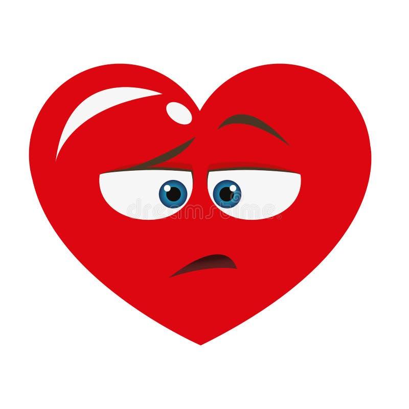 значок шаржа сердца нелюбов иллюстрация штока