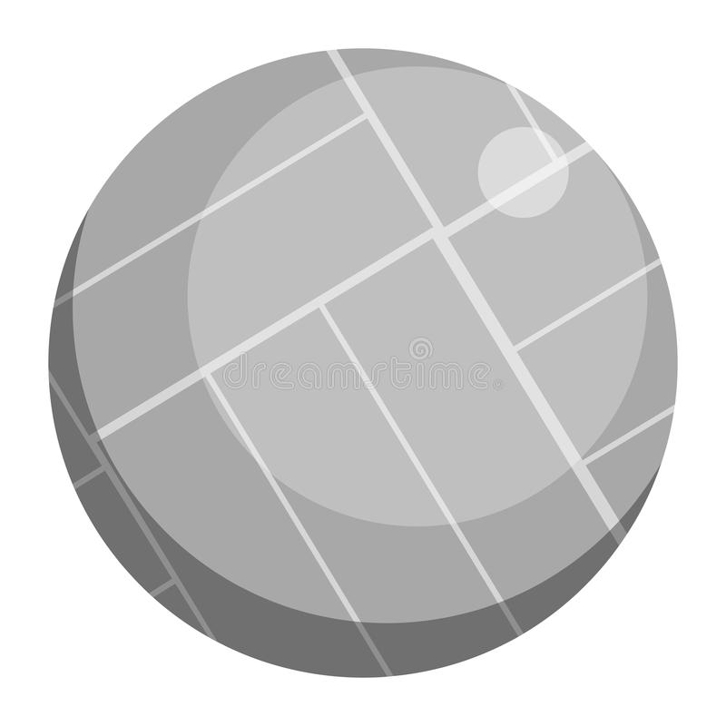Значок шарика волейбола, иллюстрация вектора иллюстрация штока