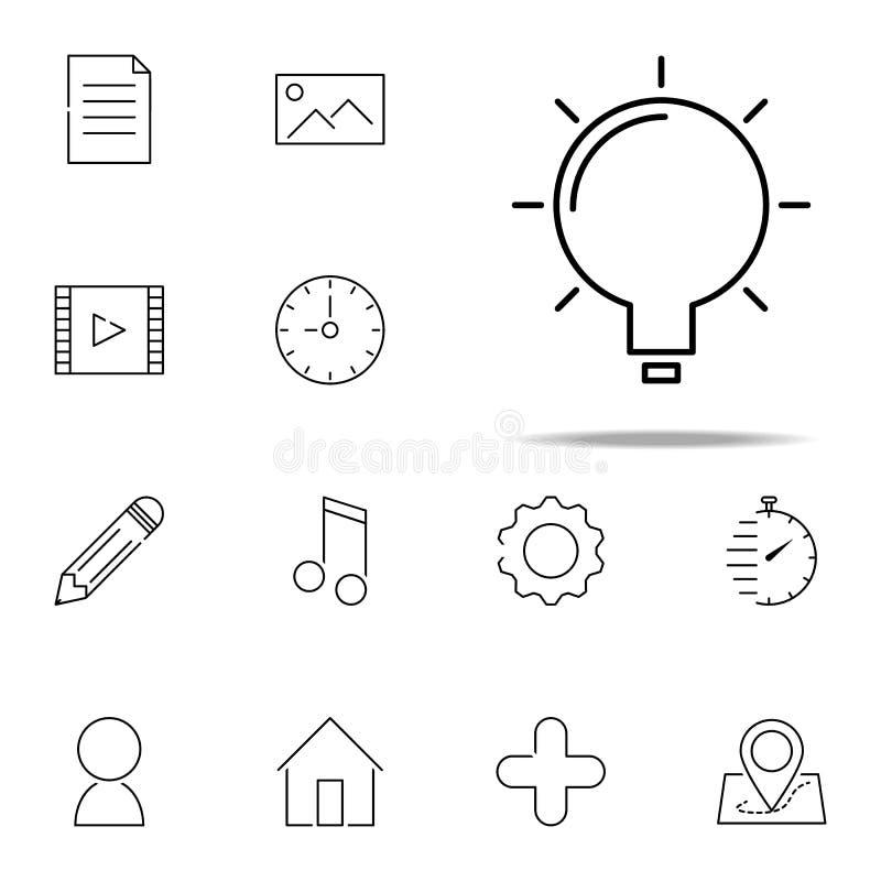 Значок шарика сеть, набор minimalistic значков всеобщий для сети и чернь иллюстрация вектора