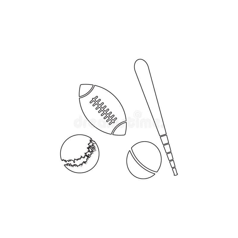 Значок шариков спорта Значок элемента игрушки Наградной качественный значок графического дизайна Младенец подписывает, значок соб иллюстрация штока