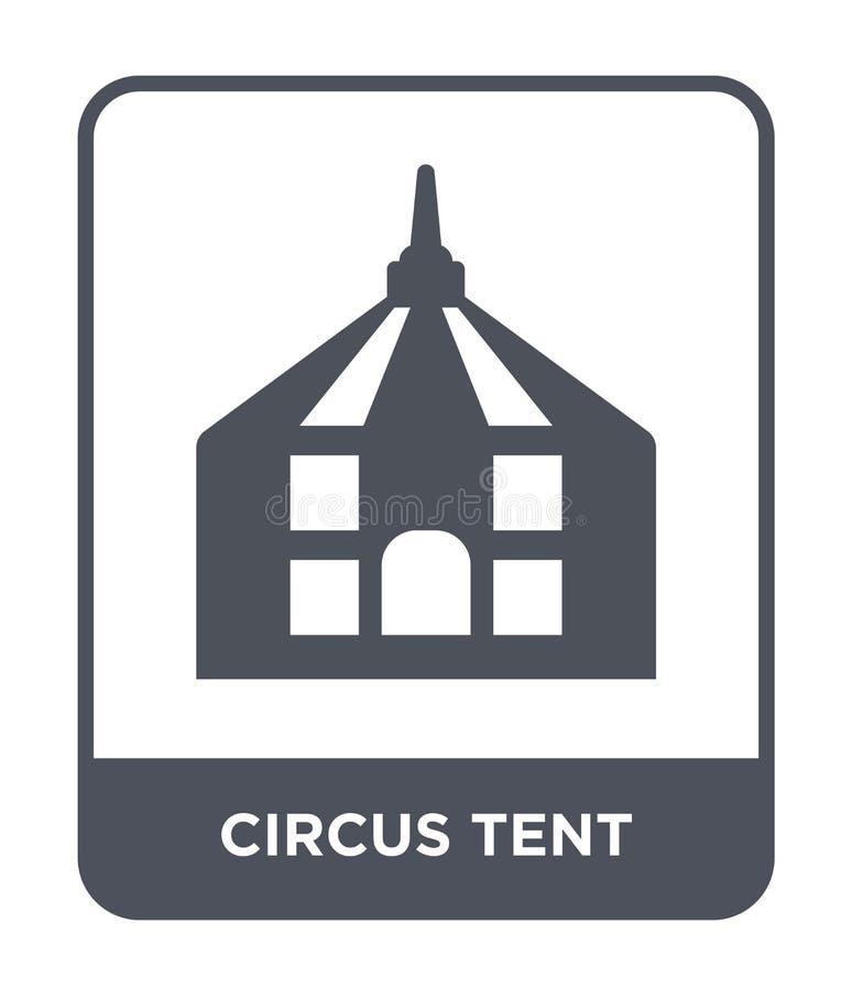 значок шатра цирка в ультрамодном стиле дизайна значок шатра цирка изолированный на белой предпосылке значок вектора шатра цирка  иллюстрация штока