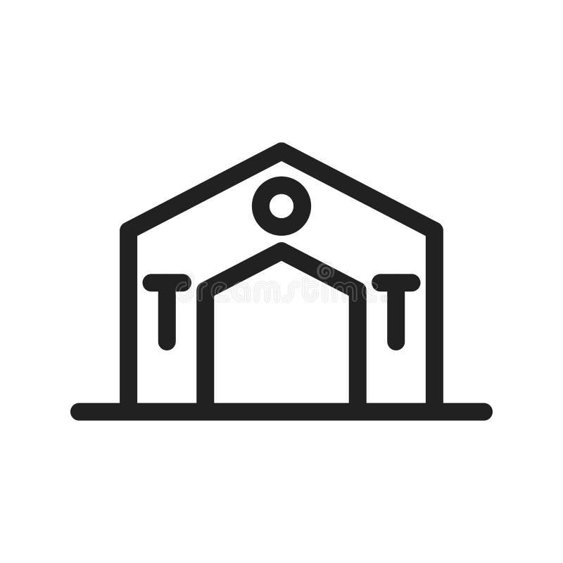 Значок шатра иллюстрация вектора