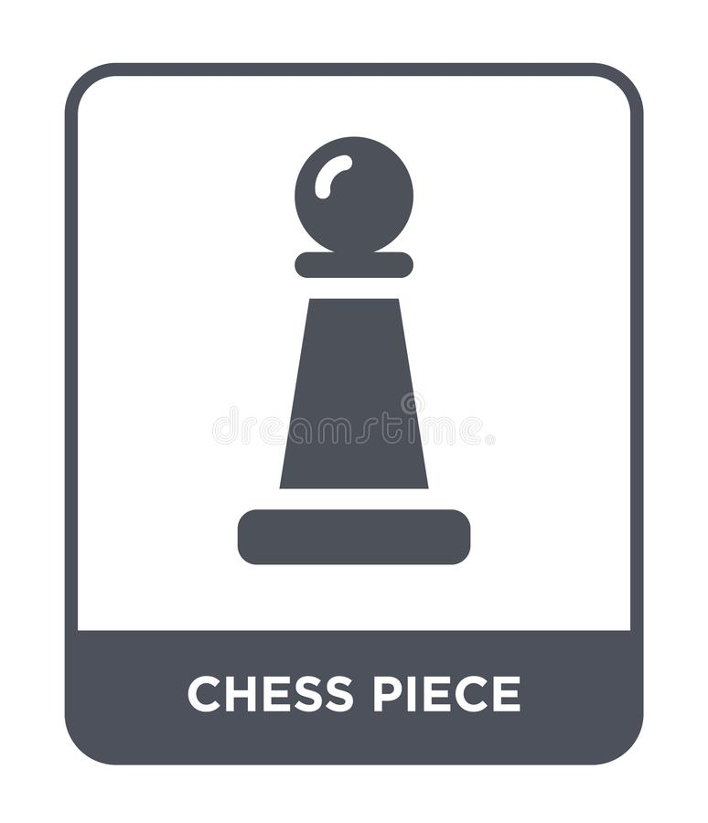 Значок шахматной фигуры в ультрамодном стиле дизайна Значок шахматной фигуры изолированный на белой предпосылке значок вектора ша иллюстрация штока
