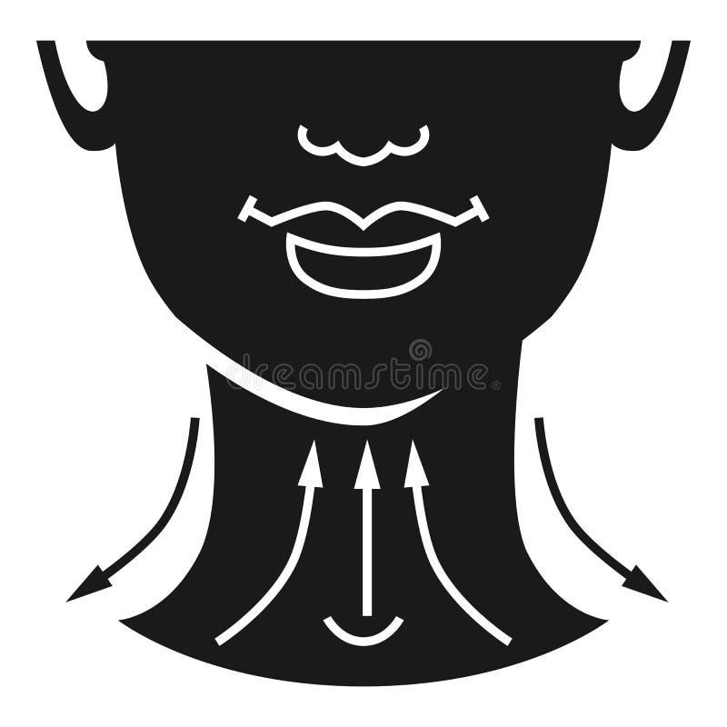 Значок шеи поднимаясь, простой стиль бесплатная иллюстрация