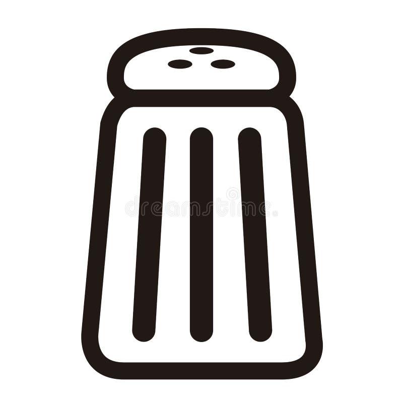 Значок шейкера соли иллюстрация штока