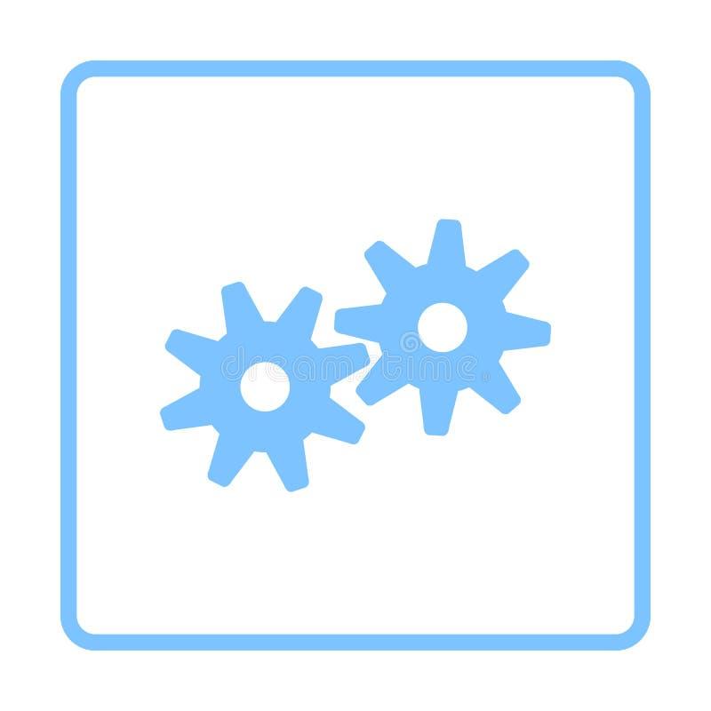 Значок шестерней иллюстрация вектора