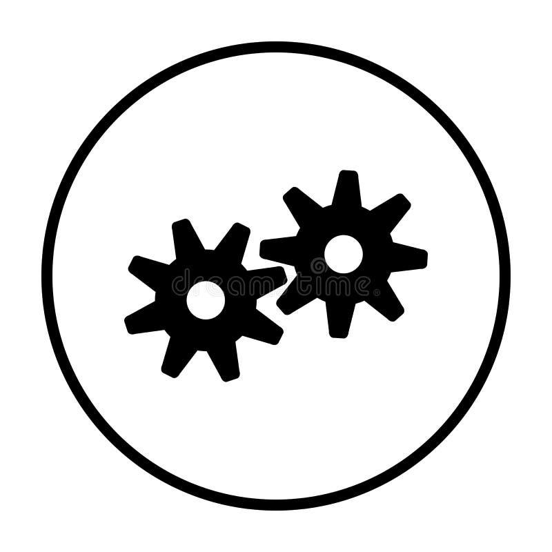 Значок шестерней бесплатная иллюстрация