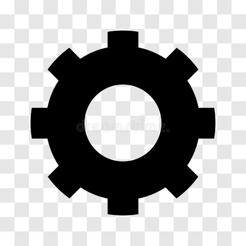Значок шестерни - дизайн вектора иконический бесплатная иллюстрация