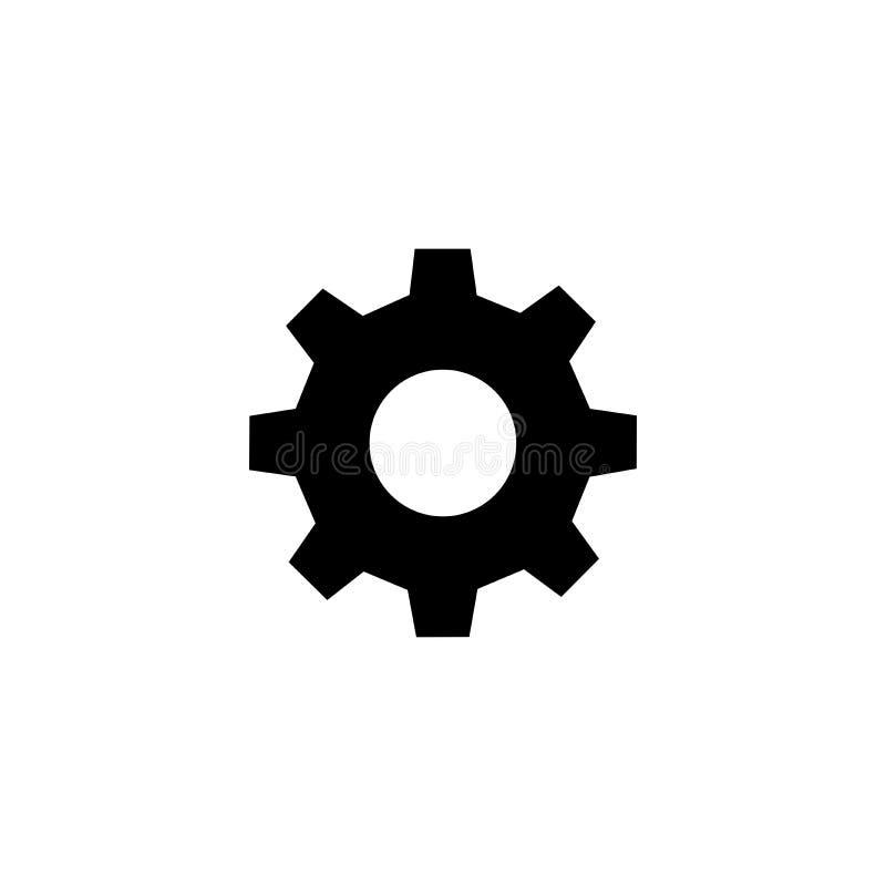 Значок шестерни плоский бесплатная иллюстрация