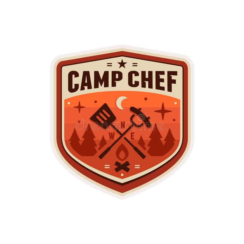 Значок шеф-повара лагеря бесплатная иллюстрация