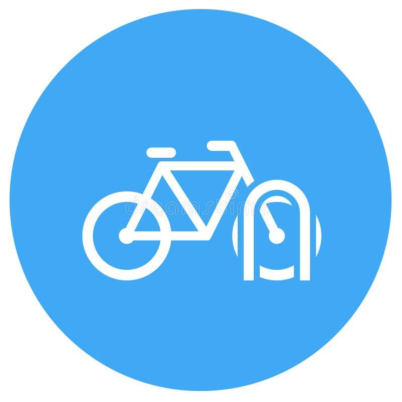 Значок шкафа велосипеда иллюстрация штока