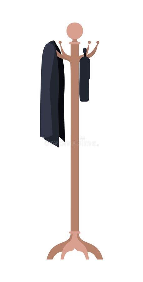 Значок шкафа пальто деревянный иллюстрация штока