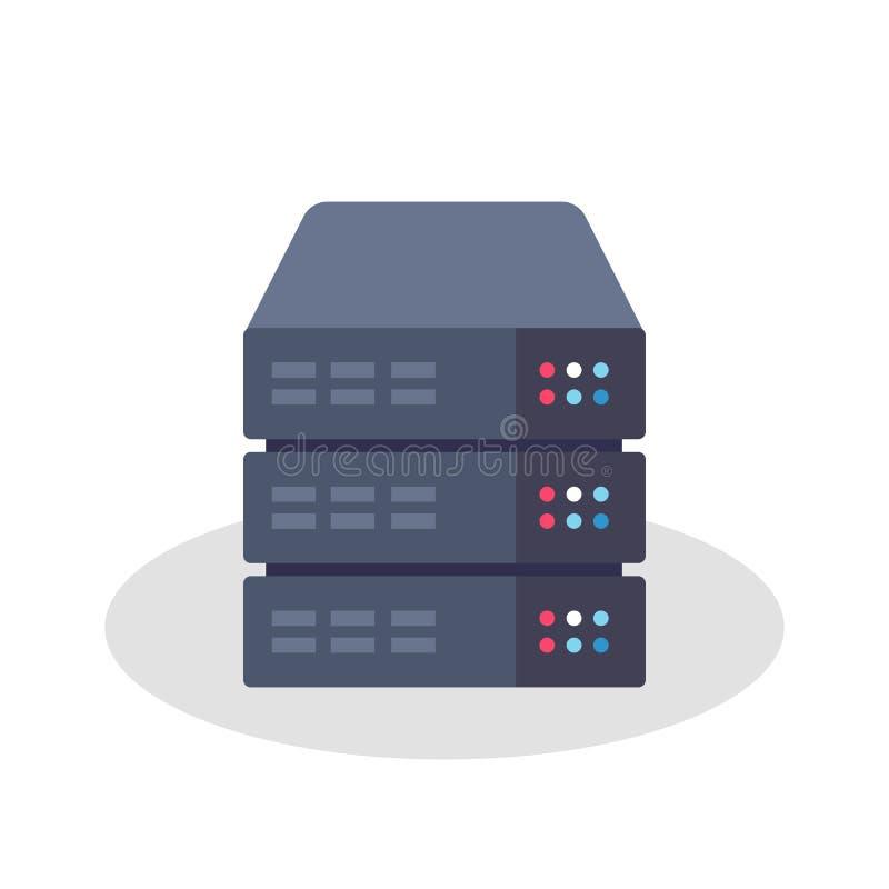 Значок шкафа сервера иллюстрация вектора