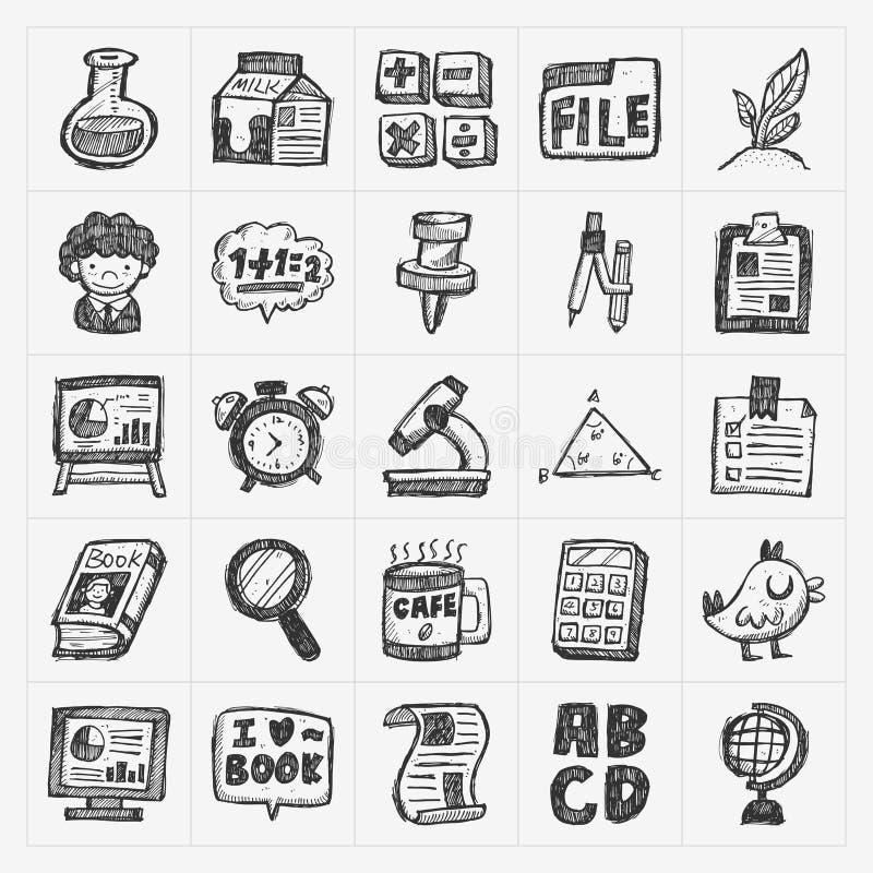 Значок школы doodle притяжки руки бесплатная иллюстрация