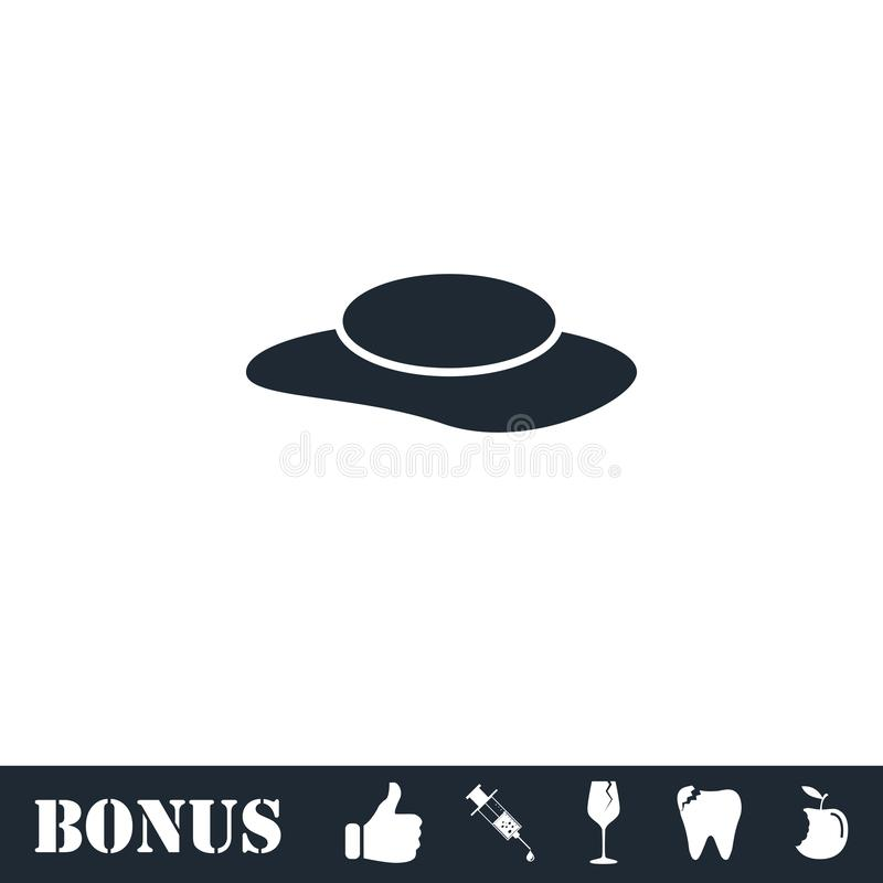Значок шляпы женщин плоско бесплатная иллюстрация