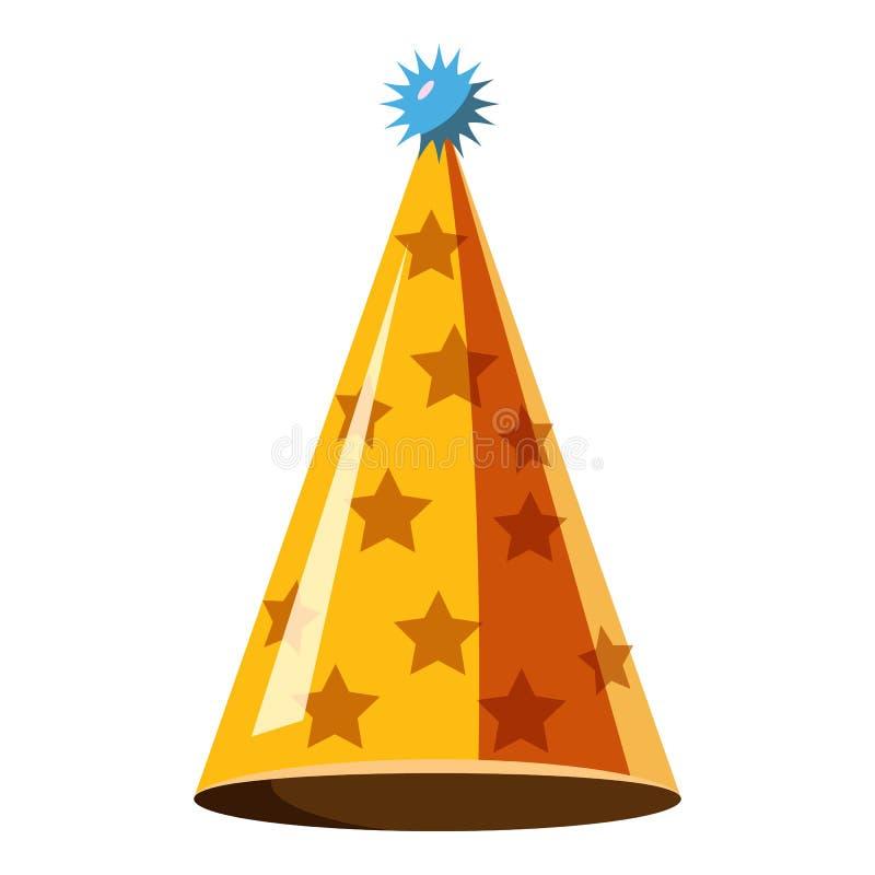 Значок шляпы партии золота, равновеликий стиль 3d бесплатная иллюстрация